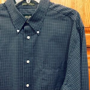 Eddie Bauer Men's Plaid Long Sleeve Button Down